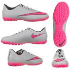 Nike Boys Girls Unisex Mercurial Astro Turf Football Trainers Grey Pink B Grade