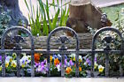 PLASTIC FENCING LAWN GRASS BORDER PATH GRAVE EDGING FANCY SMALL PICKET FLEXIBLE