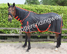 HORSE FLY RUG/SHEET FULL NECK + FREE FLY MASK All Sizes in stock Black/Red