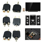 1X 3.5mm to Dual 2 RCA Female Male Jack Y Splitter Audio Adapter Converter Black