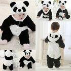 Baby Boy Girl Panda Fancy Party Costume WARM Outfit Romper Clothes Cosplay Props