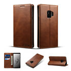 For Samsung Note 9/S10+/5G/E/S9 Plus Retro Leather Flip Wallet Stand Case Cover