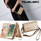 Musubo Brand Fashion Girl Leather Case For iPhone X 7 Plus Luxury Women Wallet P