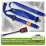 Front Static Seat Belt For Autounion 1200 Saloon 1963-1966 Blue