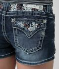 23 in me - MISS ME Embellished Lace Mid-Rise Slim Shorts *NWOT*
