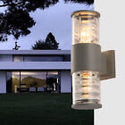 Outdoor LED Wall Mount Light Fixture E27 Bulbs Up/Down Lamp Building Exterior