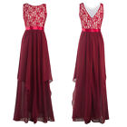 Women Chiffon Cocktail Long Maxi Dress Bridesmaid Evening Party Ball Formal Gown
