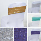 20 Spandex Sequined CHAIR SASHES Ties Wraps Wedding Party Decorations SALE $66.59 USD on eBay