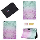 For iPad 9.7'' 2018/6th Gen Smart Cute Pattern Leather Stand Wallet Case Cover
