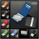 Engravable Money Clip Silver Black Red Blue Green Leatheroid Wallet Gift