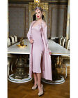 Women Long Pink Cotton and Lace Nightdress and Gown