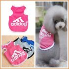 Adidog Summer Dog Clothes Breathable Mesh Pet Dog Sport Vest for Small Dogs