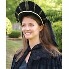 Tudor Cap with Coloured Veil. Perfect for Re-enactment Stage Costume LARP