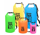 2L-30L PVC Waterproof Dry Bag Sack Ocean Pack Floating Boating Kayaking Camping