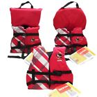 Girls Life Jacket Boat Swimming Swim Vest PFD Pink Plaid Infant Child Youth