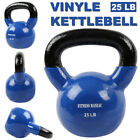Home Gym Vinyl Kettlebell Kit Body Muscles Training Weights Set 10 15 20 25lb
