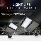 24W/48W LED Parking Lot Fixture Light UL DLC Garage Street Road Lighting Lamp