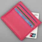 US Stock Mens Womens Leather Small ID Credit Card Wallet Holder Slim Pocket Case