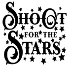 decorative stars for walls - Shoot For The Stars Vinyl Decal Sticker Quote Home Wall Cup Decor Choice