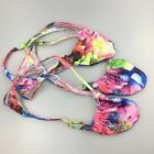 K403 P Sexy Mens String Thong Grape Smugglers Contoured Pouch Colorful Floral