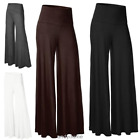 OL Office Lady Loose High Waist Wide Leg Casual Long Pants Palazzo Trousers New