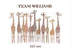 TEAM GIRAFFE PERSONALISED FAMILY ILLUSTRATION PRINT - BUILD YOUR OWN FAMILY TREE
