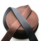 38mm Polypropylene Webbing Twill Nylon Wtrapping Bags Straps Weave Black/Brown