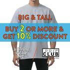 PROCLUB PRO CLUB MENS HEAVYWEIGHT SHORT SLEEVE T SHIRT CASUAL BIG AND TALL TEE image