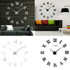 Modern Roman Numerals DIY Mirror Wall Clock Sticker Home Office Decor Goodish