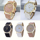 GENEVA Watch Gold Silver Pro Leather Band Analog Wrist Watches for Women Ladies