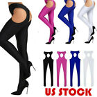 Women's Spandex Suspender Stockings Open Crotch Tights Lingerie Pantyhose Pants
