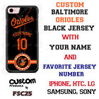Baltimore Orioles Blk Baseball Jersey Phone Case Personalized for iPhone LG etc