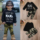 2PCS Camouflage Newborn Baby Boys T-shirt Tops Pants Outfits Set Clothes Casual