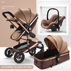Baby Stroller 3 in 1 High landscape Pram bassinet folding pushchair&Car Seat