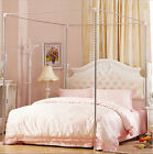 Stainless Steel Mosquito Netting Canopy Bed Frame Single Double King Size image