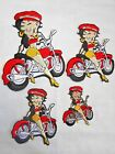 (XS, S, M, L) BETTY BOOP BIKER EMBROIDERED IRON/SEW ON APPLIQUE PATCH $3.99 USD on eBay