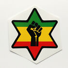 Raised Fist Sticker Decal Vinyl Star of David Rasta Jamaica Reggae Black Power
