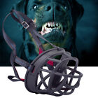 Puppy Stop Chewing Dog Muzzle Safety Soft Adjustable Pet Mouth Sleeve Blcak Mask