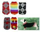 New Pet Dog Cat Kitten Clothing Knitted  Sweater Jumper Warm 20/25/30/35cm
