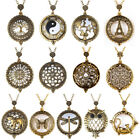 Vintage Chain 5X Magnifying Glass Reading Sweater Necklace Magnifier Pendant image
