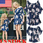 Family Clothes Lady's Mother Daughter Matching Summer Girl Floral Dress Outfit