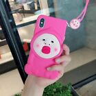 Cute funny Cartoon Kobito Dukan Lanyard Soft Case cover for iphone X 8 7 6S plus