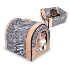 Pet Dog Cat Bed House Warm Soft Mat Bedding Igloo Basket Kennel Washable Supply