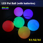 1 2 4 Pcs LED POI Thrown Balls For Professional Belly Dancing Level Hand Props