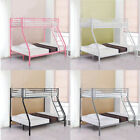 3FT Single 4FT6 Double Metal Triple Bunk Bed Frame Sturdy for Adult Kid Children