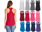 Kyпить Womens RACER BACK Tank Top Light Weight Casual Basic A-Shirt Yoga Gym Workout на еВаy.соm