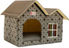 Folding Luxury High-end Double Pet House Dog Room Cat Bed Double Roof Dog Room