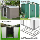 8'x8' Outdoor Garden Shed Storage Backyard Lawn Utility Tool Patio Foundation