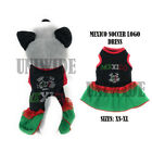 Small Pet Dog Mexico Soccer Logo Puppy Lace Skirt Apparel Costume Clothes