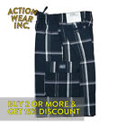 SHAKA MEN'S PLAID SHORTS CASUAL 5 POCKET HIP HOP CARGO SHORTS ELASTIC CHECKER  <br/> *BUY 2 OR MORE & GET 10% DISCOUNT. BUY WITH CONFIDENCE*